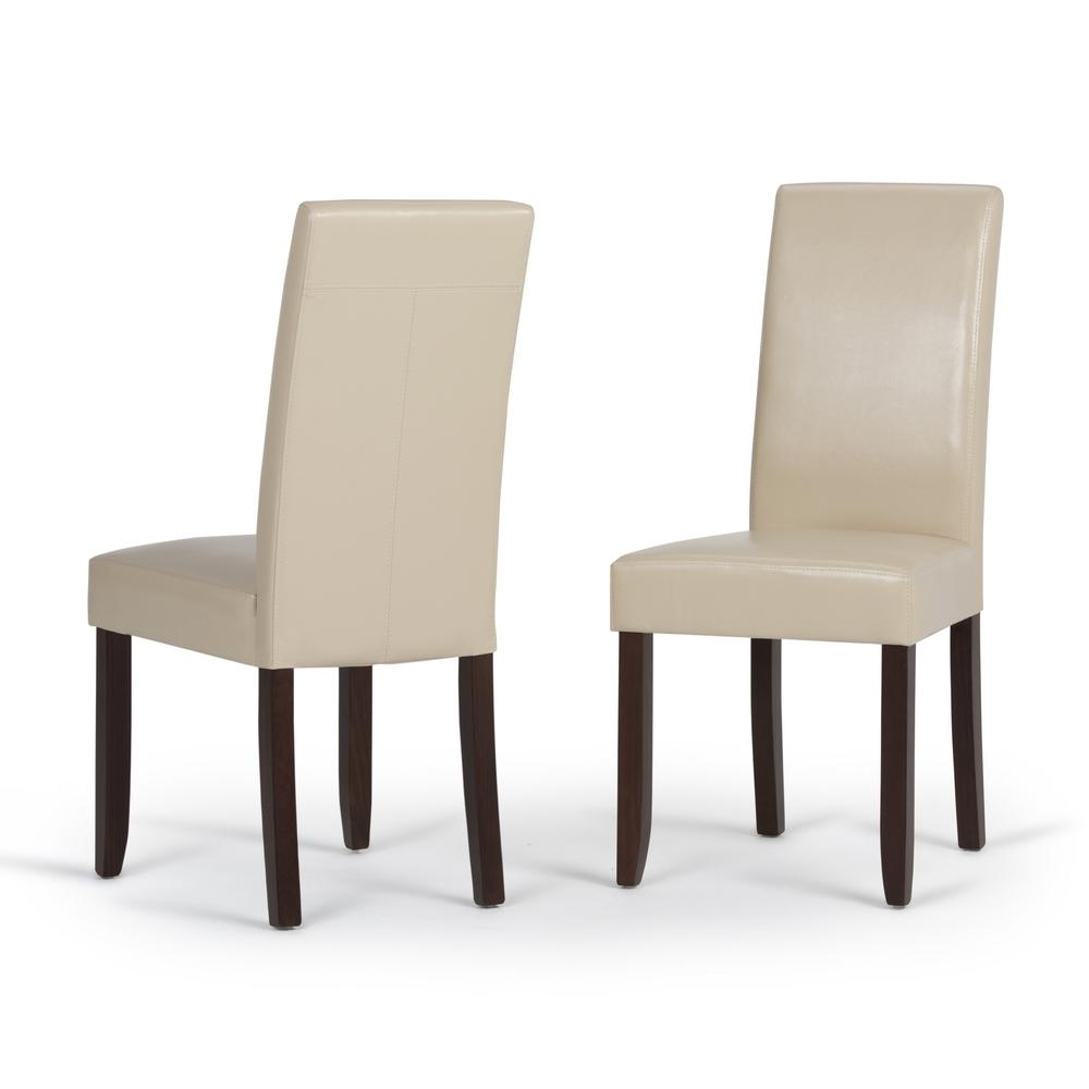 faux leather parsons dining chairs