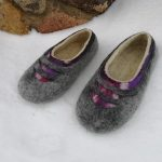 felted wool slippers for women flat home shoes mom gift