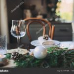festive christmas new year table setting scandinavian style