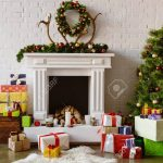 festive living room with cozy fireplace christmas tree and presents