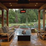 fire pit under covered patio patio ideas