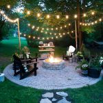 firepit patio country cottage diy circular outdoor