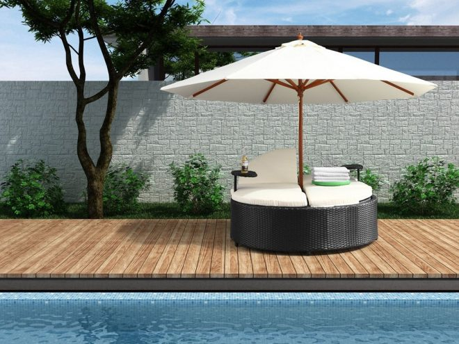 flip flop day bed with umbrella outdoor daybed outdoor