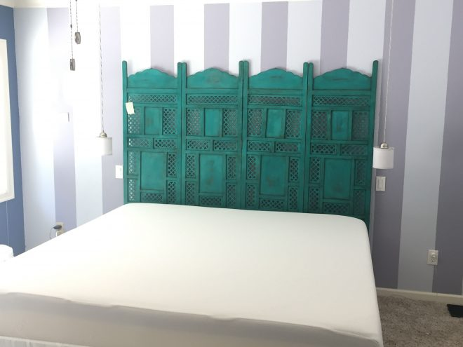 folding room divider screen turned king bed headboard need
