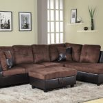for u furnishing charming chocolate microfiber sectional sofa right