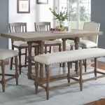 fortunat counter height extendable dining table tall