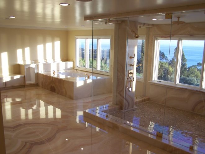 foundation dezin decor elegant bathroom design joint less tiles