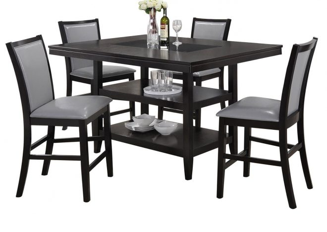 fraleys furniture gallery grazia black counter height table