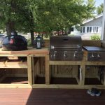 framing in the grilling area in 2019 outdoor bbq kitchen