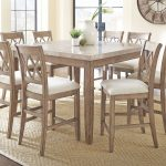 franco square counter height dining room set