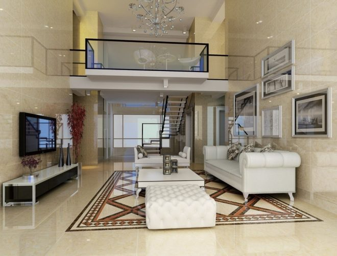 frank camuso design living room on duplex house stairs
