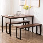 free sample modern dining table with bench compact dining set use for small kitchen room buy dining table with benchmodern dining tabledining