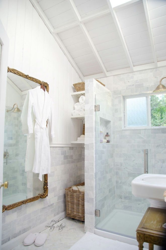 french cottage bathroom renovation reveal in 2020 french