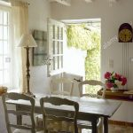 french country dining room beamed ceiling stable door table chairs