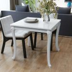 french high gloss white square dining table furniture