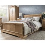 french solid oak 5 king size sleigh bed in 2019 solid oak