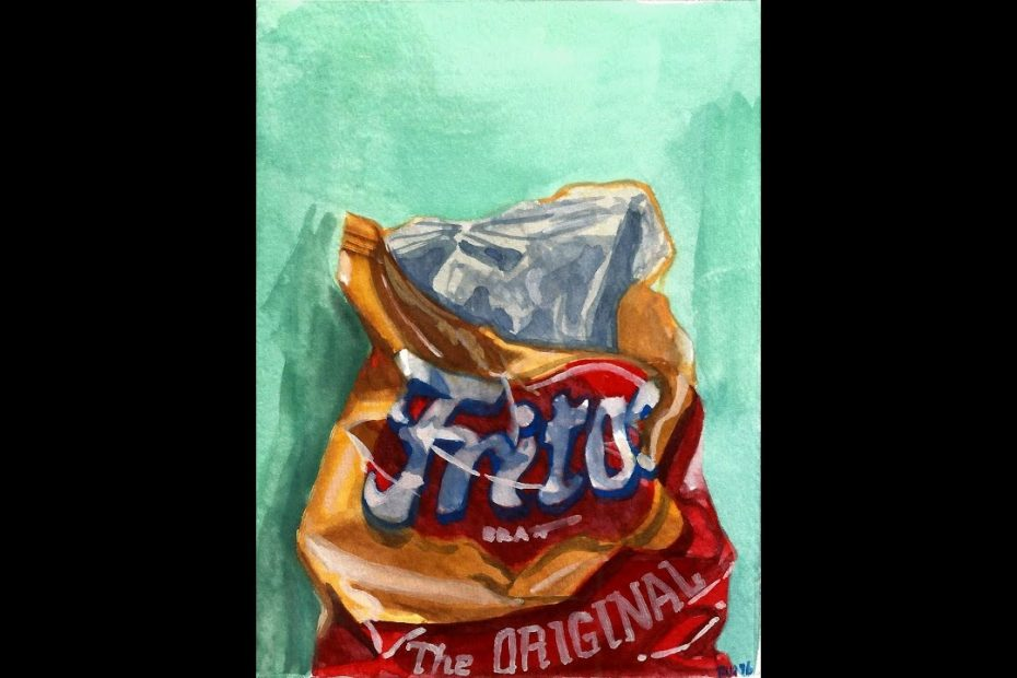 fritos chip bag gouache speed paint