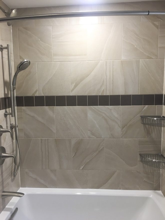 full bathroom tile shower wall with tub nh bath builders
