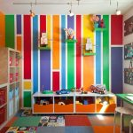 fun colorful kids bedroom painting decor with track lighting idea