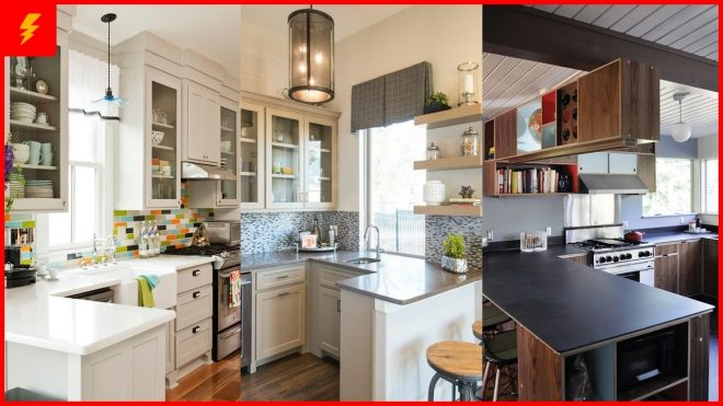 functional small kitchen peninsula design ideas youtube