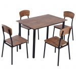 furniture dining room rustic wood industrial table engaging