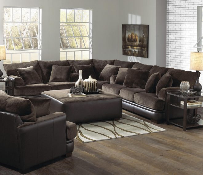 furniture interesting living room interior using large sectional