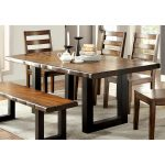 furniture of america divo rustic oak 72 inch solid wood dining table