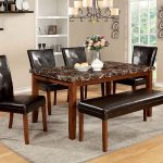 furniture of america elmore dining room set in antique oak