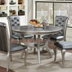 furniture of america gold glam round dining table champagne