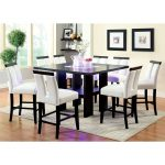 furniture of america luminate contemporary 9 piece illuminating counter height dining set