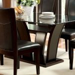 furniture of america manhattan i dark cherry dining table the