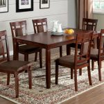 furniture of america montclair i dark cherry 7 pc dining table side