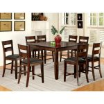 furniture of america paur modern cherry 9 piece counter dining set