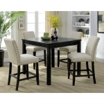 furniture of america pave rustic black 5 piece counter dining set