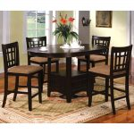 furniture of america toureille 5 piece expandable roundoval