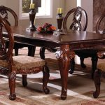 furniture of america tuscany ii formal dining table