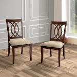 furniture of america wole rustic cherry padded dining chairs set of 2