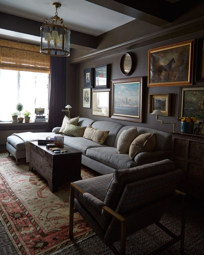 gallery wall photos in 2019 dark living rooms masculine