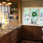 galley kitchen layout love the window bump out makes the space