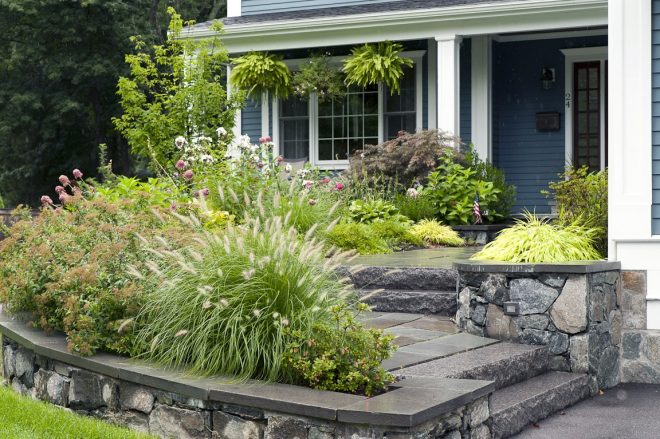 garden small front yard landscaping ideas with rocks small front