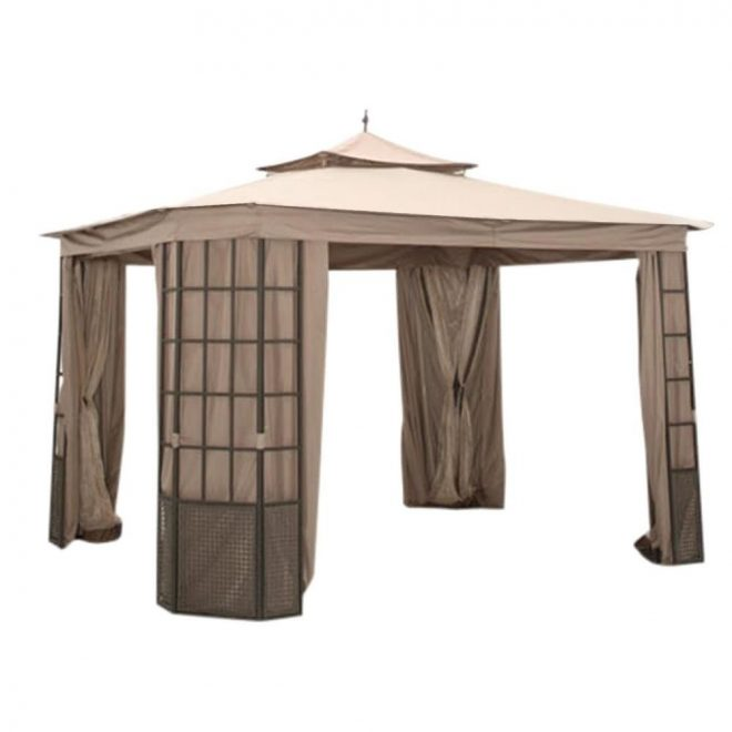 garden winds riplock 350 replacement canopy top in beige for verado 10 ft x 12 ft gazebo