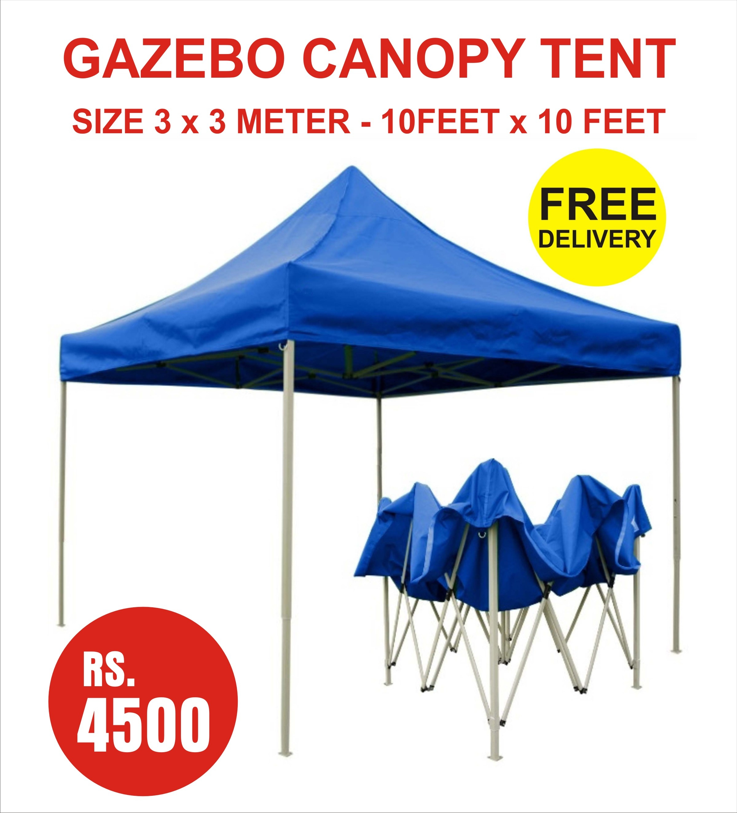 gazebo canopy tent blue color foldable outdoor party