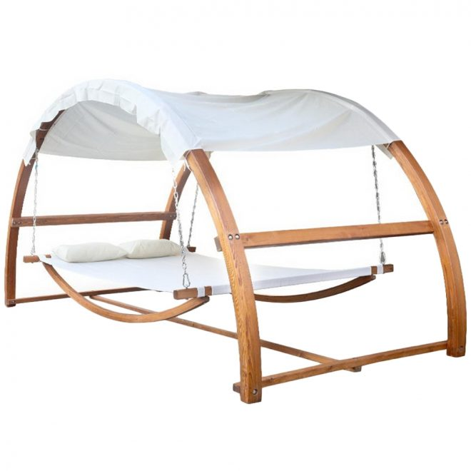 gideon outdoor double hammock bed with canopy