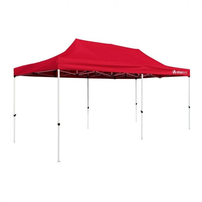 gigatent party tent 10 ft x 20 ft red canopy