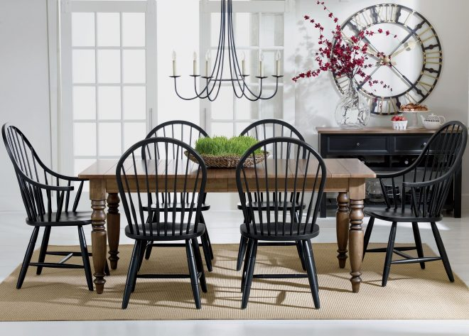 gilbert side chair black white dining room country