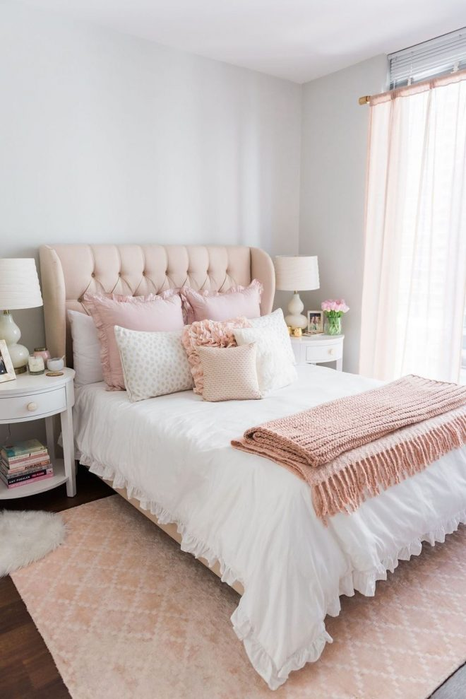 girly but unique girl bedroom designs ideas 38 pink