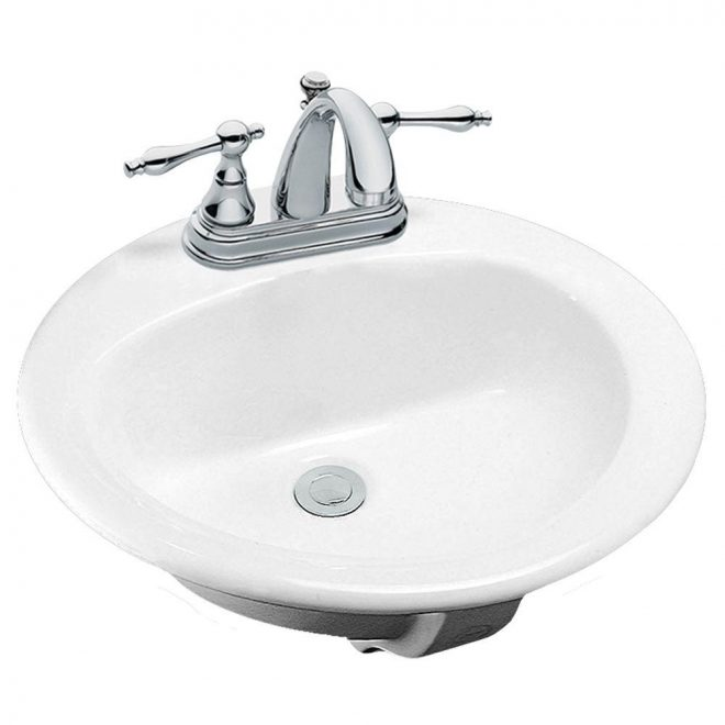 glacier bay drop in bathroom sink in white 13 0013 4whd the home depot