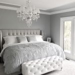 glamorous grey bedroom decorgrey tufted headboard grey