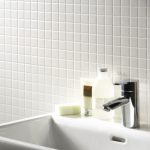gloss white square small mosaic tiles bijou square mosaic