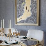 gold and silver abstract painting gold and grey